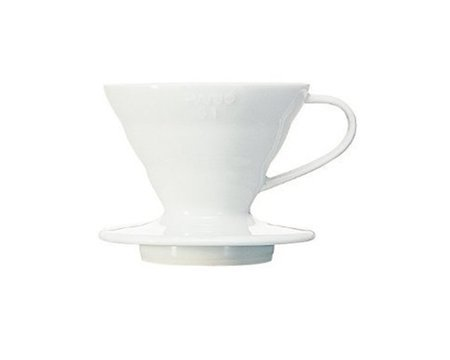 V60-01 HARIO WHITE CERAMIC DRIFT FOR 1 CUP